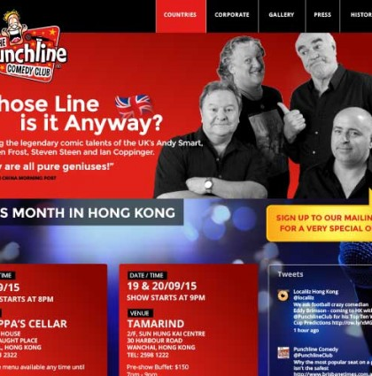 <span>Punchline Comedy Club</span> Website